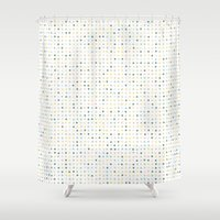 polka dot Shower Curtains featuring Polka Dot by Alisa Galitsyna