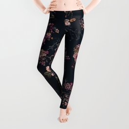 Japanese Boho Floral Leggings