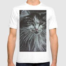 Oreo the cat Mens Fitted Tee White MEDIUM