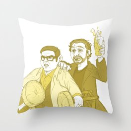 the world's end Throw Pillow