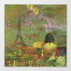On the roofs of Paris Canvas Print
