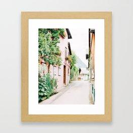 The Streets of Hallstatt Framed Art Print