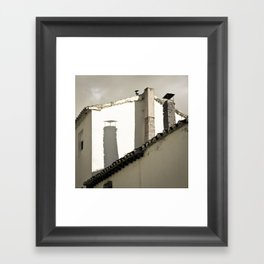 The shadow Framed Art Print