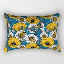 The meadow in yellow and blue Rectangular Pillow