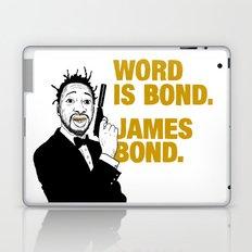 Word is bond. James Bond. Laptop & iPad Skin