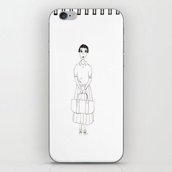girl in white iPhone & iPod Skin