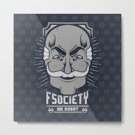 FSOCIETY Metal Print