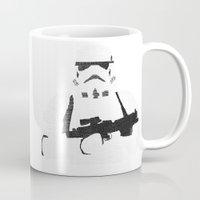 stormtrooper Mugs featuring Stormtrooper by  Steve Wade ( Swade)