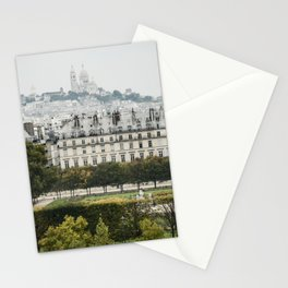 View Towards Sacre Coeur Stationery Cards