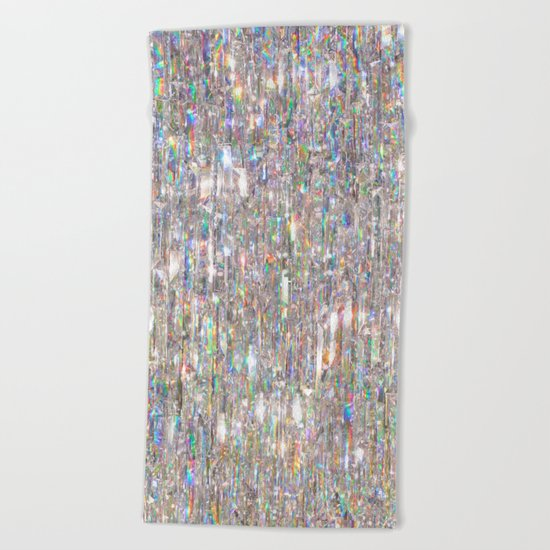 To Love Beauty Is To See Light (Crystal Prism Abstract) Beach Towel