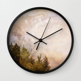 light is everywhere Wall Clock