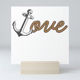 Love Anchor Mini Art Print
