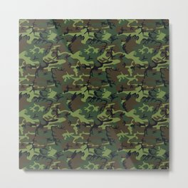Green and Brown Camouflage Pattern Metal Print