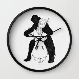 Violin for love. Wall Clock