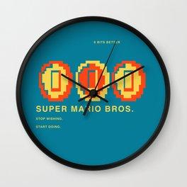 8 BITS BETTER - SUPER MARIO BROS. Wall Clock