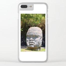 Olmeca head Clear iPhone Case
