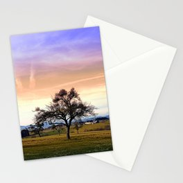 Old tree and amazing cloudy sky | landscape photography Stationery Cards