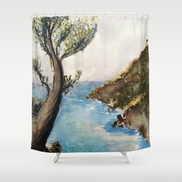 Japanese Landscape Shower Curtain