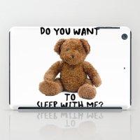 teddy bear iPad Cases featuring teddy bear by ulas okuyucu