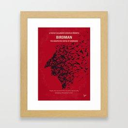 No604 My Birdman minimal movie poster Framed Art Print