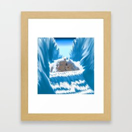 Cat Romance Framed Art Print