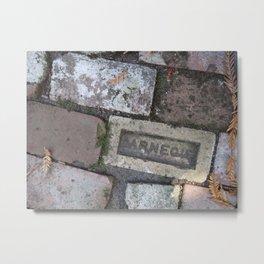Antique brick garden path Metal Print