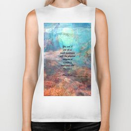 You And I Inspirational Togetherness Quote With Beautiful Underwater Painting Biker Tank