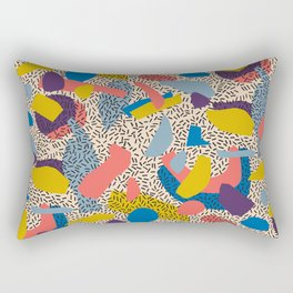 Memphis Inspired Pattern 2 Rectangular Pillow