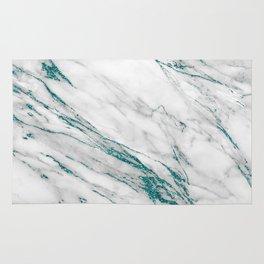 Gray Marble Aqua Teal Metallic Glitter Foil Style Rug