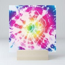 Tie-Dye Sunburst Rainbow Mini Art Print