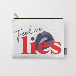 Feed Me Lies - 90s style Pop Art Typographic Collage Poster Carry-All Pouch