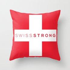 Swiss Strong Throw Pillow
