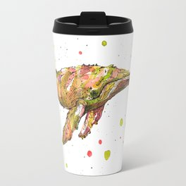 Tangerine Whale Travel Mug