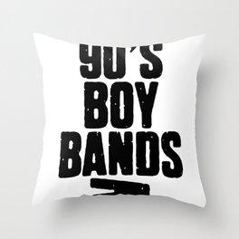 90's Boy Band Throw Pillow