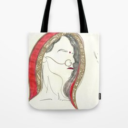 Red Lady Tote Bag