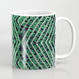 Green African Dye Resist Fabric Coffee Mug