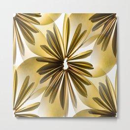 Origami Flowers Golden Tones #decor #society6 #buyart Metal Print