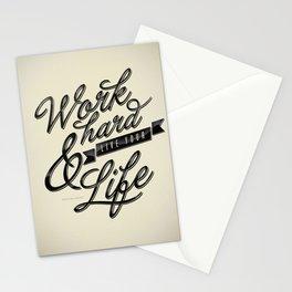 Work Hard Stationery Cards