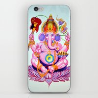 ganesh iPhone & iPod Skins featuring Ganesh by Jared Bretholtz