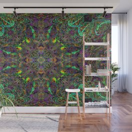 Rasta Patterns in the Jungle Canopy Wall Mural