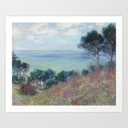 """Claude Monet """"La côte de Varengeville (The coast of Varengeville)"""" Art Print"""