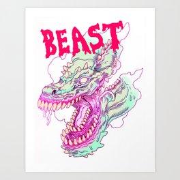 BOTTOMLESS BEAST Art Print