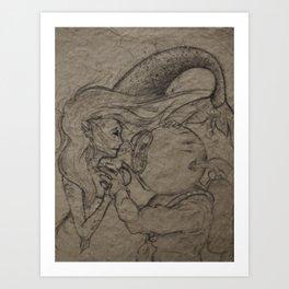 First Encounter  Art Print
