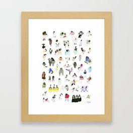 Dozens of Animal Denizens Framed Art Print