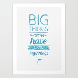 Big Things Art Print