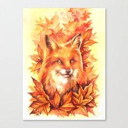 Foxy Autumn Canvas Print
