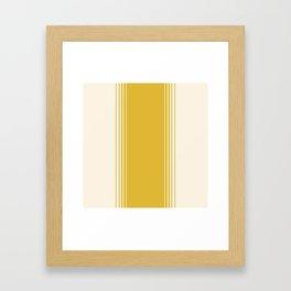 Marigold & Crème Vertical Gradient Framed Art Print