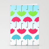 umbrella Stationery Cards featuring Umbrella by hannahclairehughes