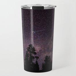 Busy Sky - Shooting Stars, Planes and Satellites in Colorado Night Sky Travel Mug