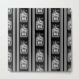 Black and White Tarot Print - The Emperor Metal Print